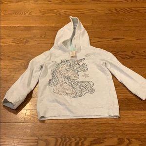 Unicorn sparkly hoodie size 4